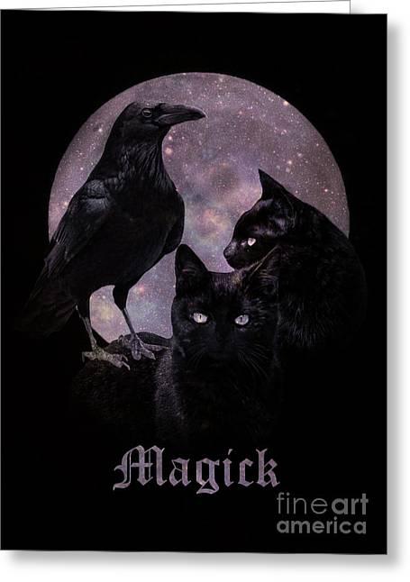 Wicca Lunar Magick Greeting Card