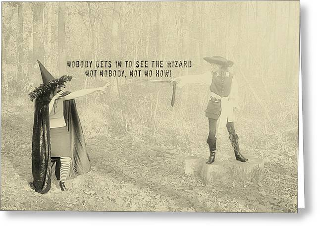 Wicked Quote Greeting Card by JAMART Photography