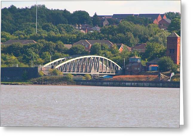 Wigg Island Swingbridge Greeting Card