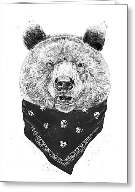Wild Bear Greeting Card