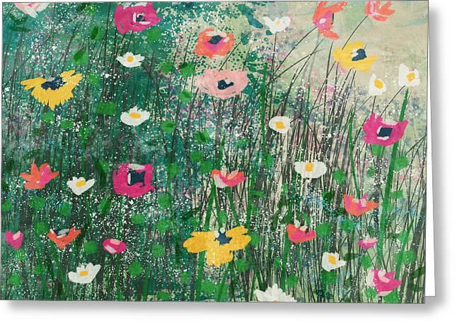 Wildflowers- Art By Linda Woods Greeting Card