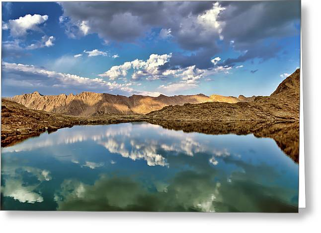 Wildhorse Lake Reflections Greeting Card by Leland D Howard