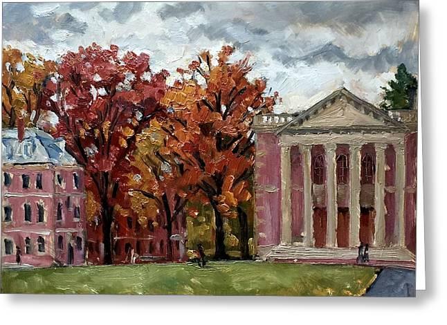 Williams College Rainy Autumn Greeting Card