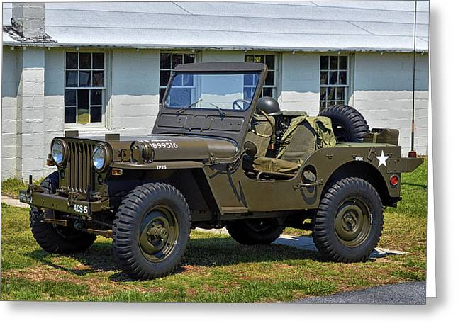 Greeting Card featuring the photograph Willys Army Jeep 20899516 At Fort Miles by Bill Swartwout Fine Art Photography