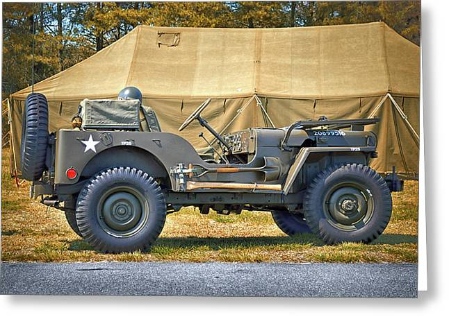 Greeting Card featuring the photograph Willys Jeep U S A 20899516 At Fort Miles by Bill Swartwout Fine Art Photography