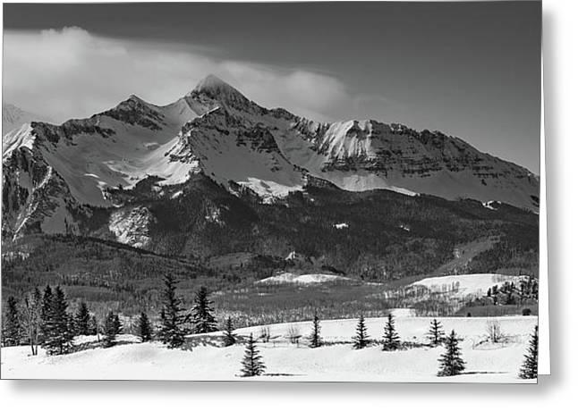 Wilson Peak Winter Panorama Greeting Card