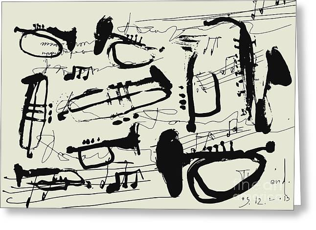 Wind Instruments Greeting Card
