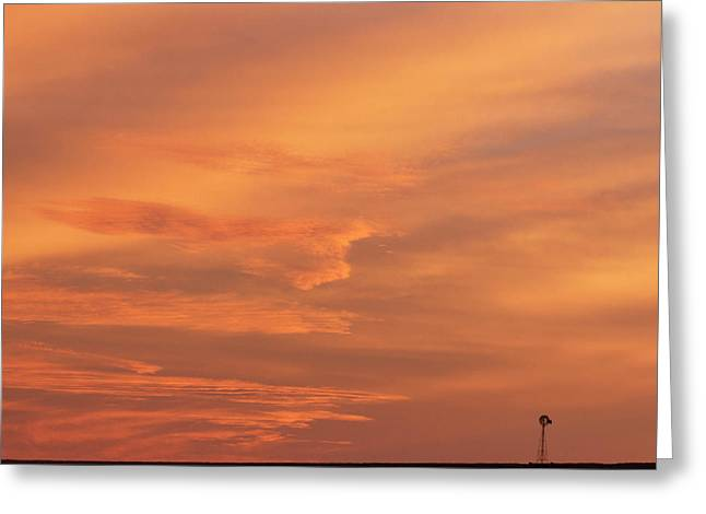 Greeting Card featuring the photograph Windmill And Afterglow 02 by Rob Graham
