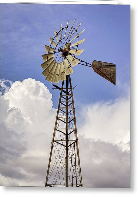 Windmill Before The Storm Greeting Card
