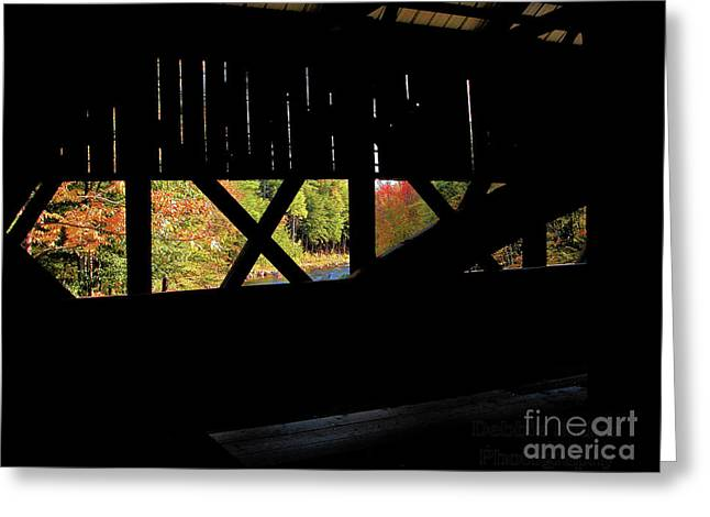 Greeting Card featuring the photograph Window To Fall by Debbie Stahre