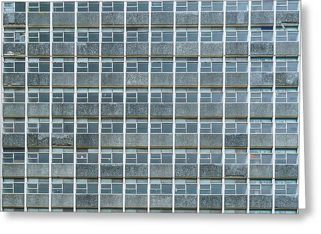 Windows Pattern Modern Architecture Greeting Card