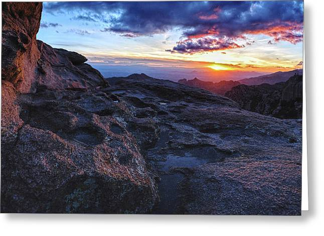 Windy Point Sunset Greeting Card