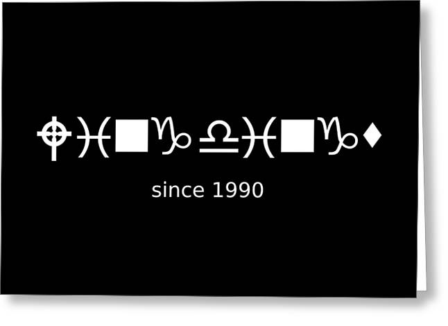 Wingdings Since 1990 - White Greeting Card