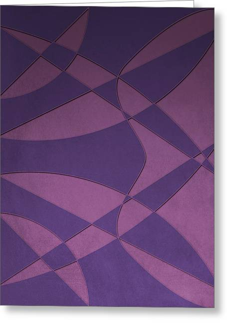 Wings And Sails - Purple And Pink Greeting Card