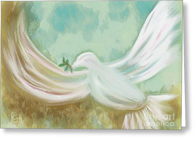 Wings Of Peace Greeting Card
