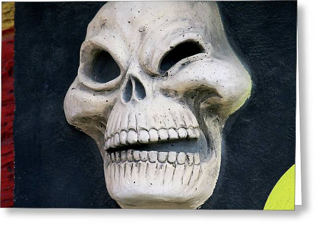 Winking Skull Greeting Card