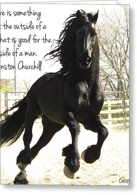 Winston Churchill Horse Quote Greeting Card