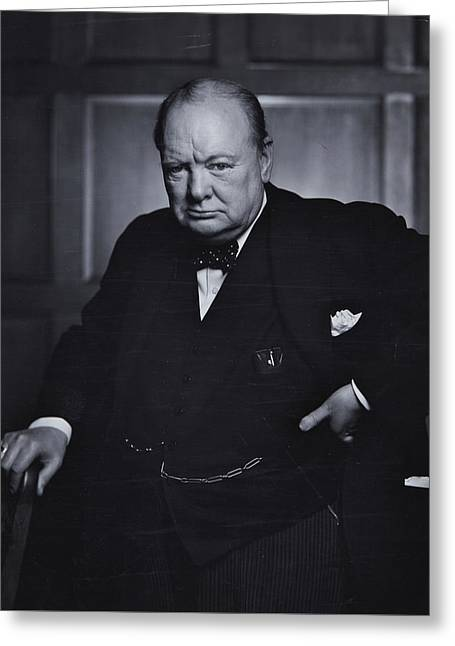 Winston Churchill In The Canadian Parliament Greeting Card