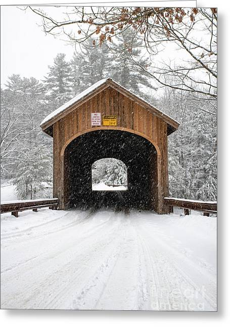 Winter At Babb's Bridge Greeting Card