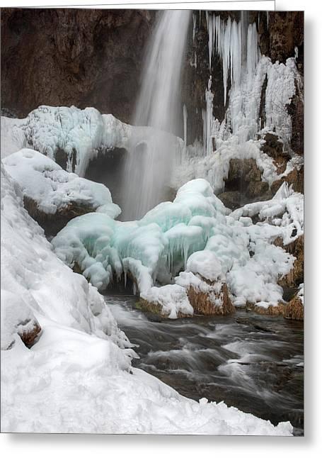 Winter At Rifle Falls Colorado Greeting Card