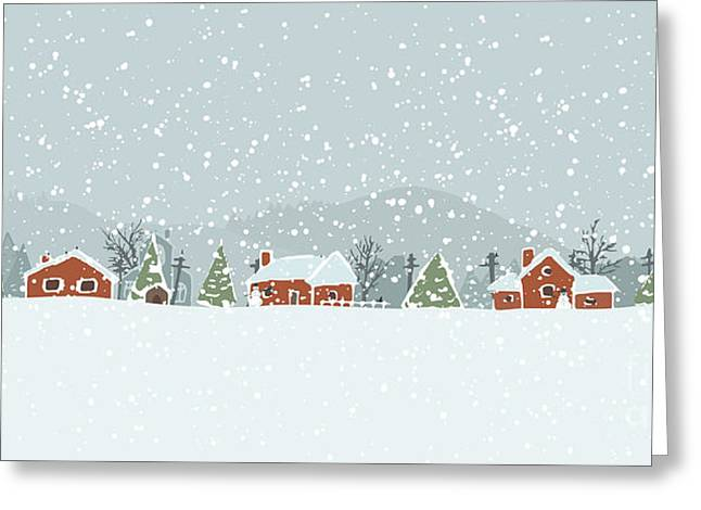Winter Background With A Peaceful Greeting Card