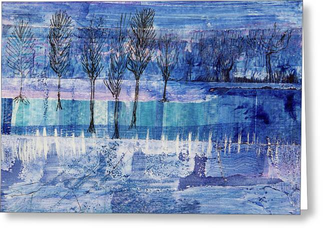 Winter Blues 1 Greeting Card
