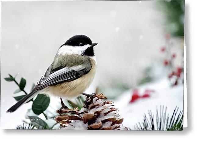 Winter Chickadee Greeting Card