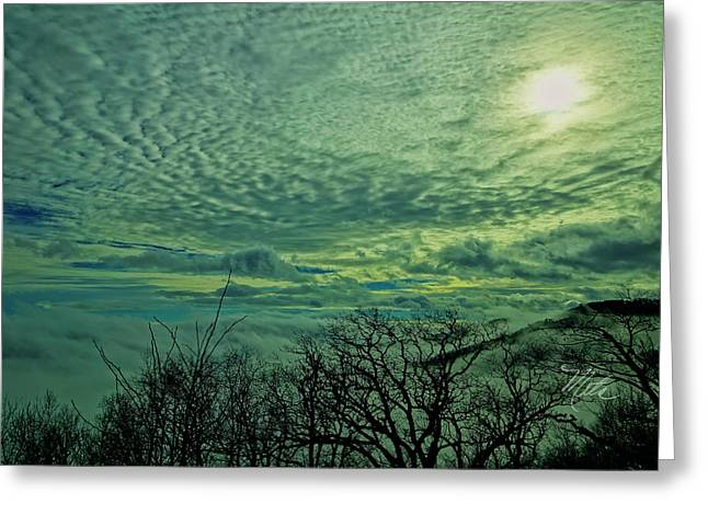 Winter Clouds Greeting Card