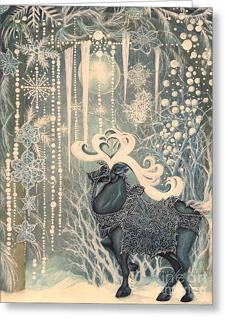 Winter  Fantasy Greeting Card