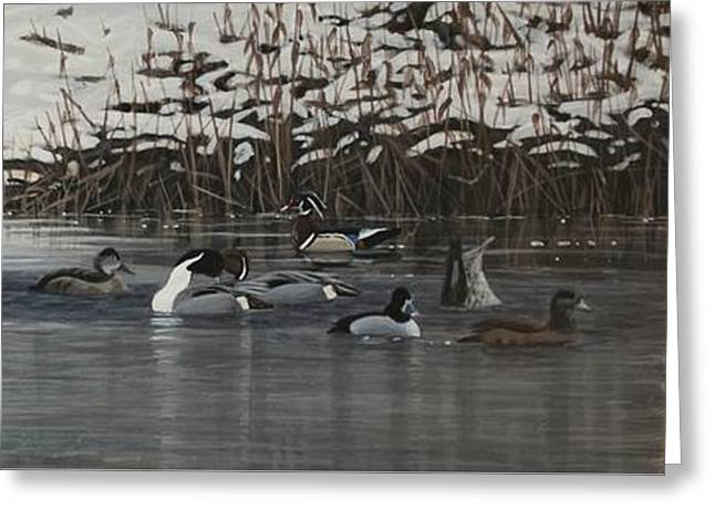 Winter Flock Greeting Card