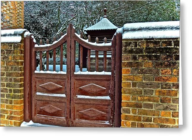 Winter Gate Greeting Card