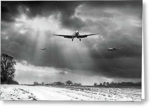 Greeting Card featuring the photograph Winter Homecoming Bw Version by Gary Eason