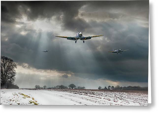 Greeting Card featuring the photograph Winter Homecoming by Gary Eason