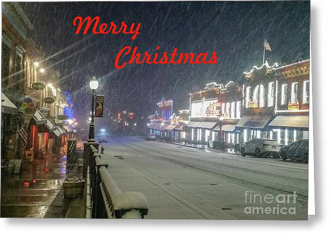 Winter In Cripple Creek - Co Merry Christmas Greeting Card