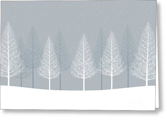 Winter Landscape. Forest Greeting Card