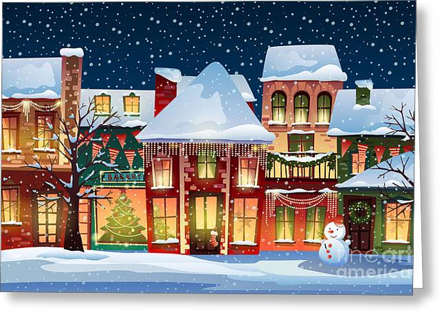 Winter Landscape.christmas Background Greeting Card