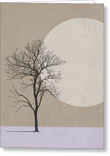 Winter Morning Tree Greeting Card