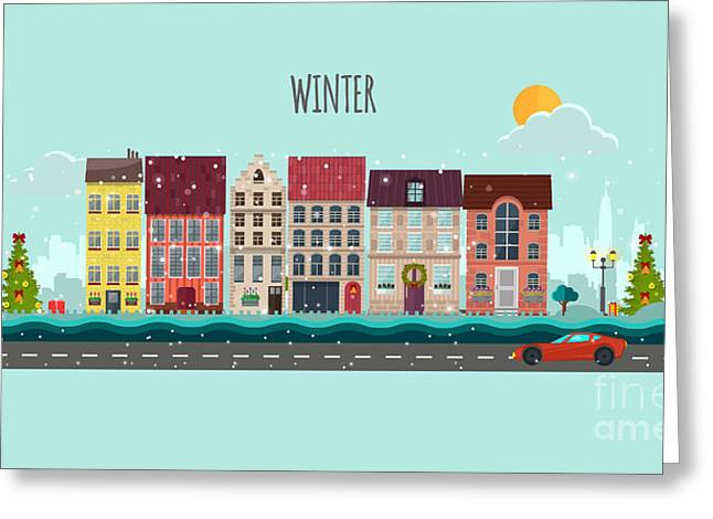 Winter Nature Landscape.winter Greeting Card