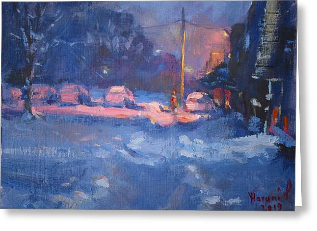 Winter Nocturne Greeting Card