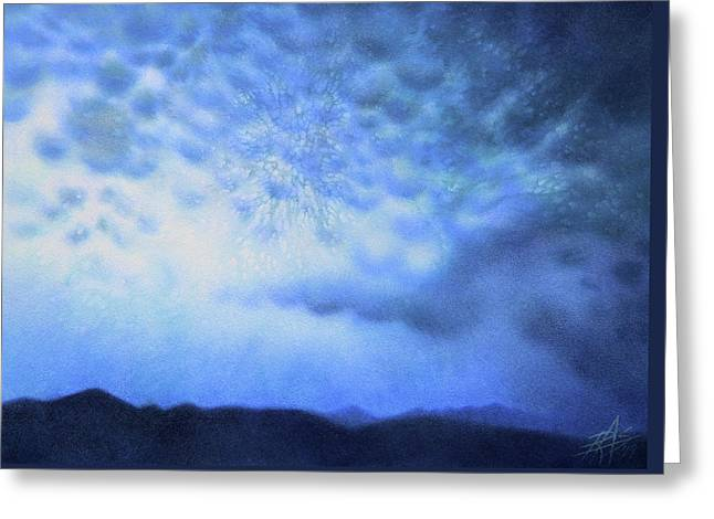 Winter Storm Or Mammatus Clouds Over Black Mountain Greeting Card by Robin Street-Morris