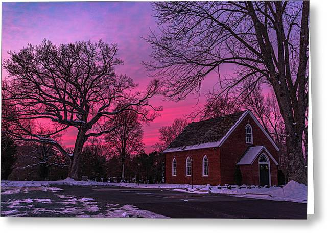 Greeting Card featuring the photograph Winter Sunrise by Lori Coleman