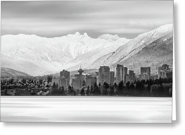 Winterscape Vancouver Greeting Card