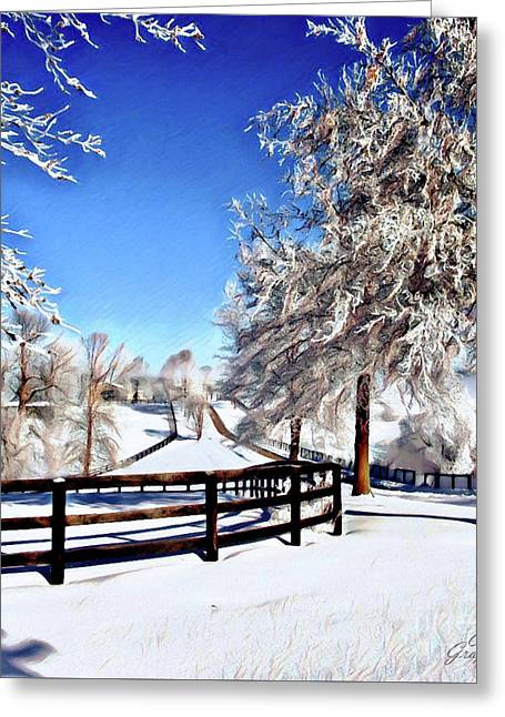 Wintry Lane Greeting Card
