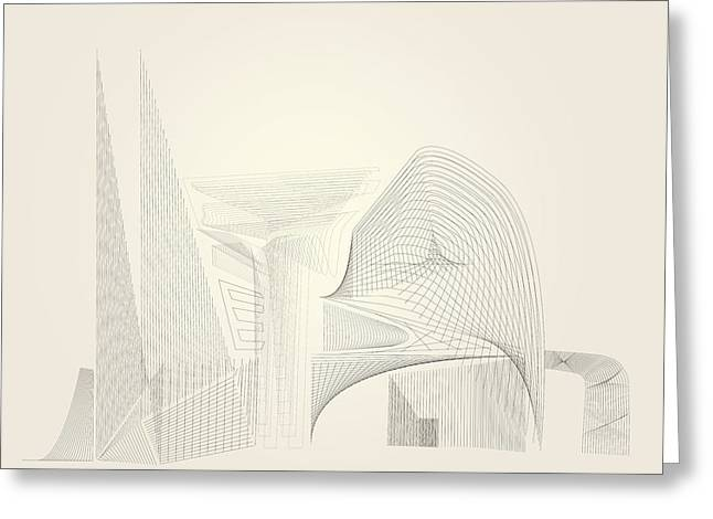 Wire Folly Complex Greeting Card