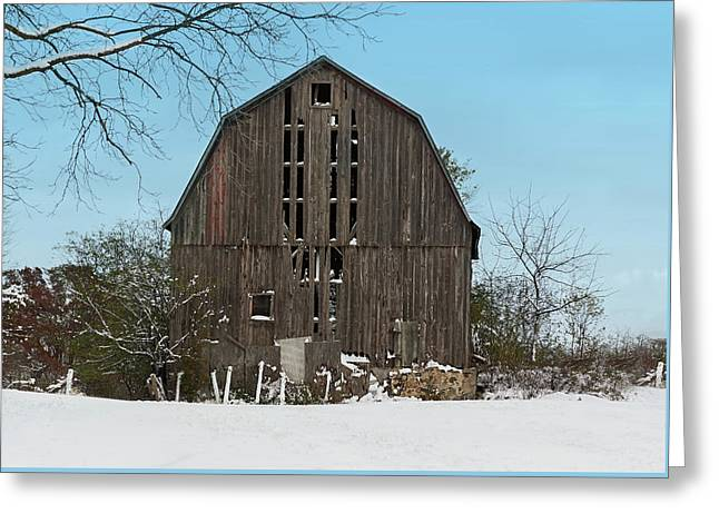 Greeting Card featuring the photograph Wisconsin Barn by Kim Hojnacki