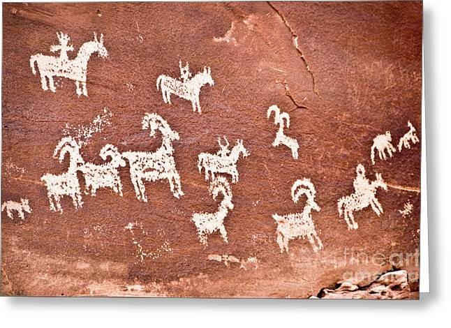 Wolfe Ranch Petroglyphs Greeting Card