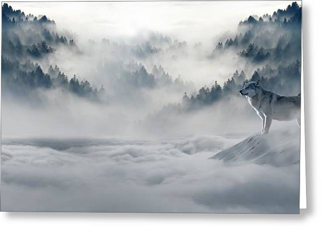 Wolfs In The Snow Greeting Card