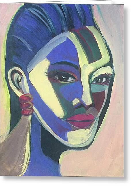 Woman Of Color Greeting Card