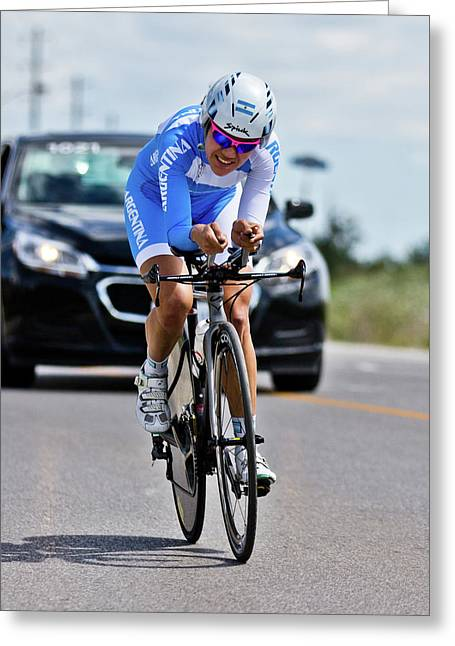 Greeting Card featuring the photograph Womens Individual Time Trial No 1 by Brian Carson
