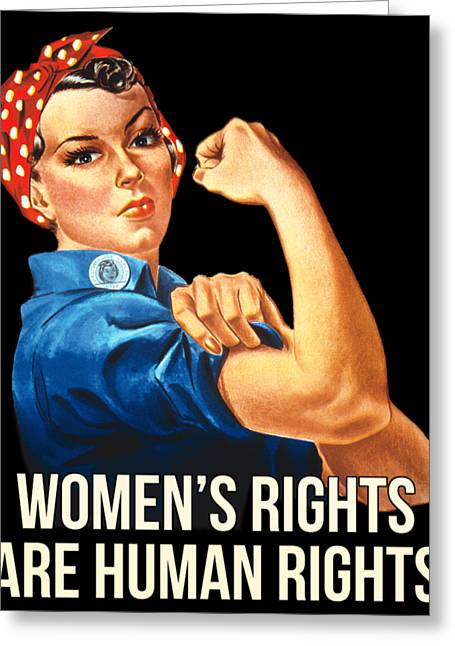 Womens Rights Are Human Rights Tshirt Greeting Card